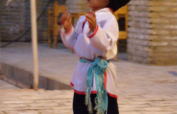 Espectáculo musical en Khiva