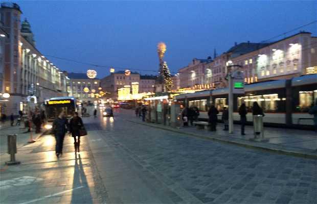 Plaza principal de Linz Austria
