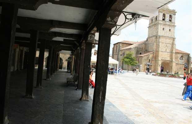 Main square of Aguilar de Campoo
