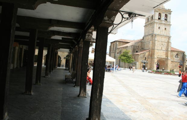 Plaza Mayor deAguilar de Campoo