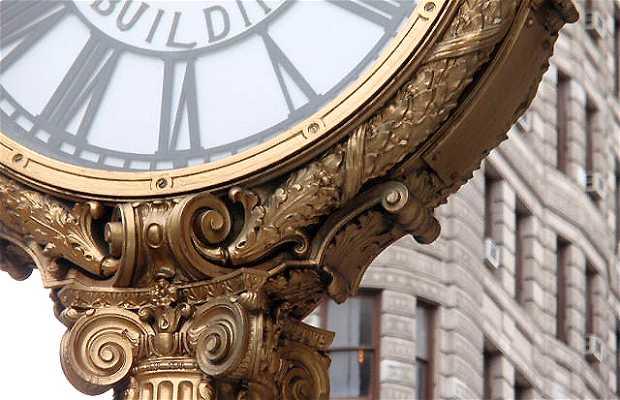 Reloj de calle en Flatiron district