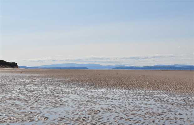 Playa de la bahía de Findhorn