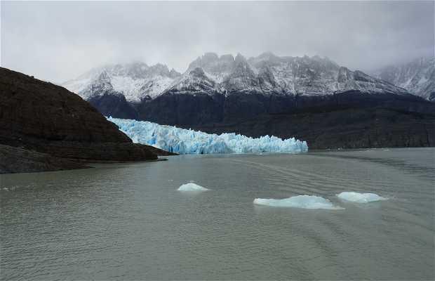 Glaciar Grey y Lago Grey