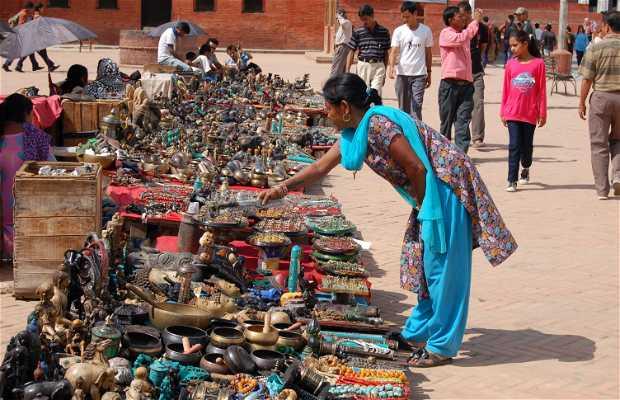Mercado de la plaza Basantapur