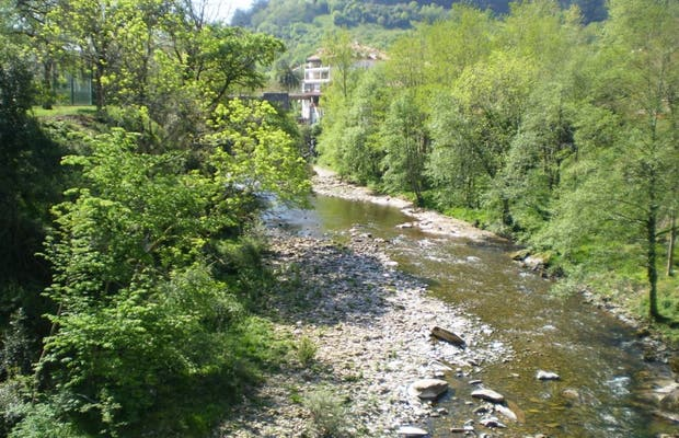 Río Pas a su paso por Puente Viesgo