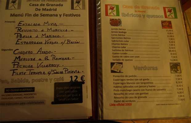 Restaurant Casa Granada