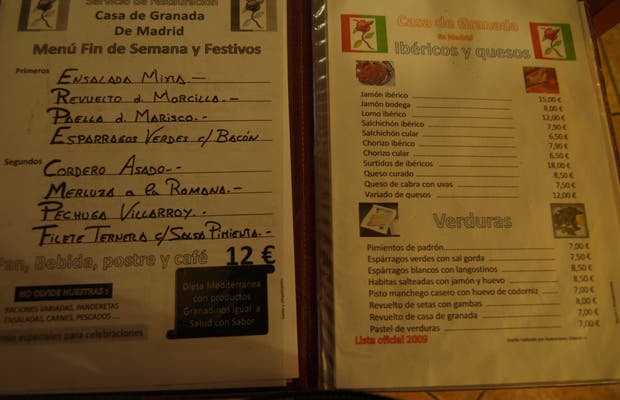 Restaurante Casa Granada en Madrid: 5 opiniones y 12 fotos