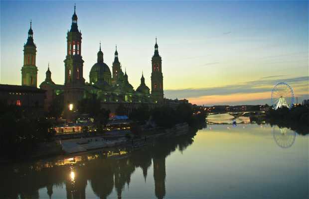 Curso do Rio Ebro por Saragoça
