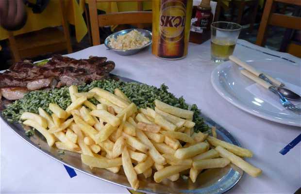 Restaurant dans la favela Rocinha