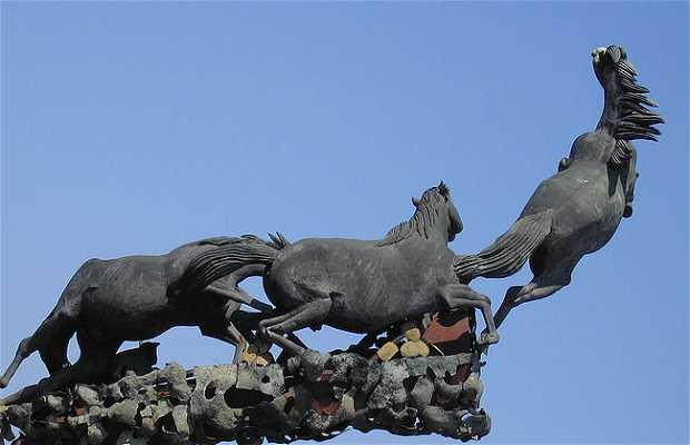 Le monument aux chevaux
