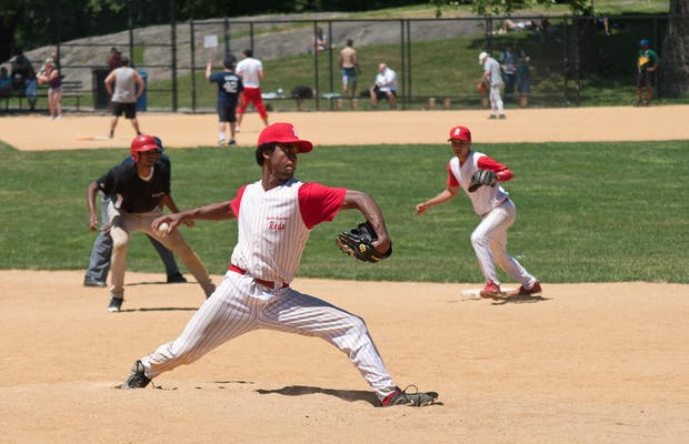 Baseball fields in Central Park
