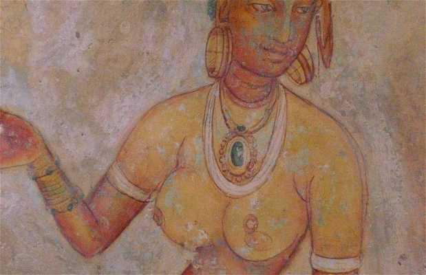 Pinturas rupestres en Sigiriya