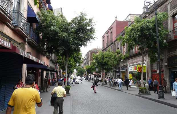 Calle Tacuba a México City