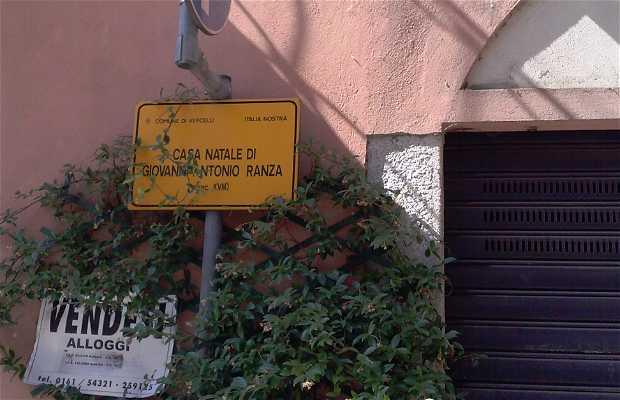 Casa natale di Giovanni Antonio Ranza