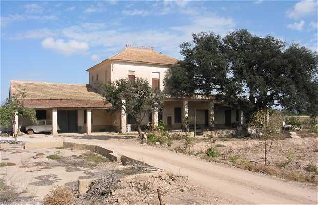 Casona rural típica de arquitectura tradicional ubicada en pedanía ilicitana de Asprillas, con carrasca centenaria, que fue antigua almazara de aceite