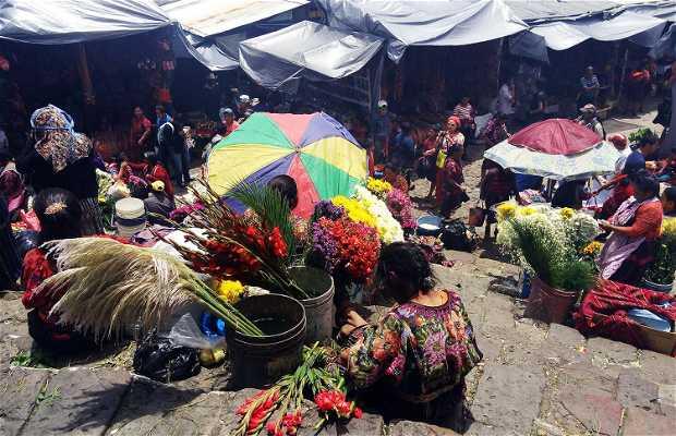Floristas de Chichicastenango