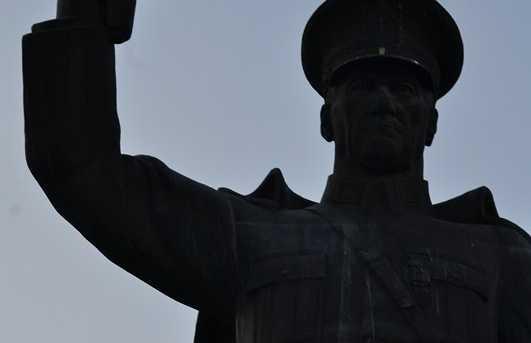 The statue of Ataturk