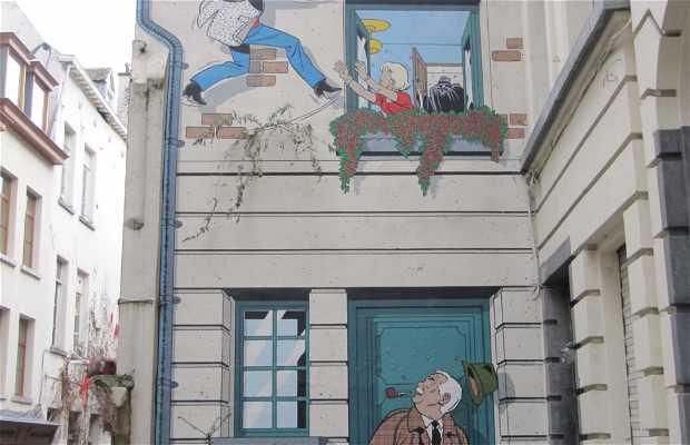 Mural de Ric Hochet - Tibet & Duchâteau