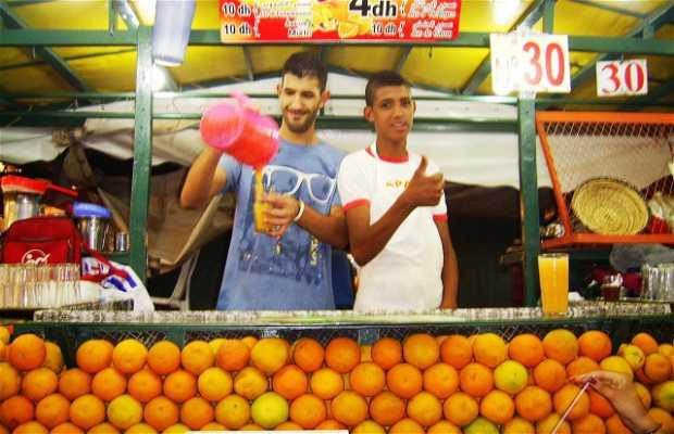 Juice Vendors in Jemaa El Fnaa