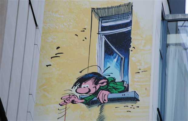 Mural Gaston Lagaffe - Franquin