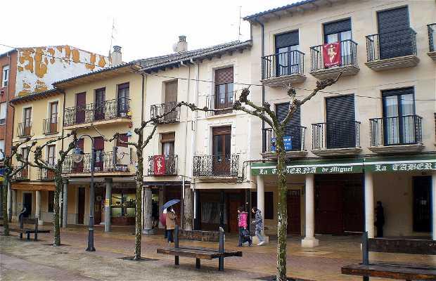 Piazza Maggiore di Sahagún in Spagna