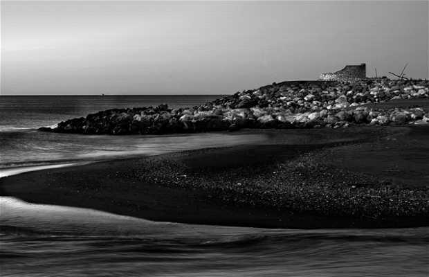 La foce del fiume Guadalhorce a Malaga