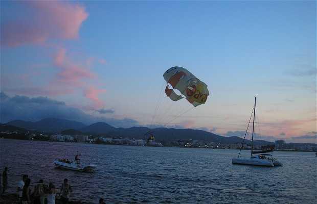 Paravoile (parasailing) à Ibiza