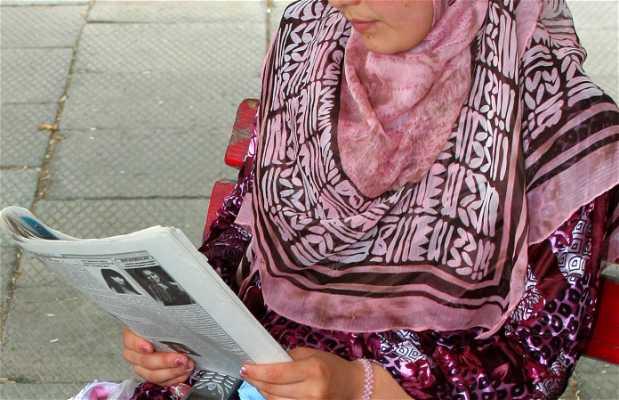Uzbek ladies'faces
