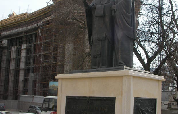 Statue de sv Naum y san clemente