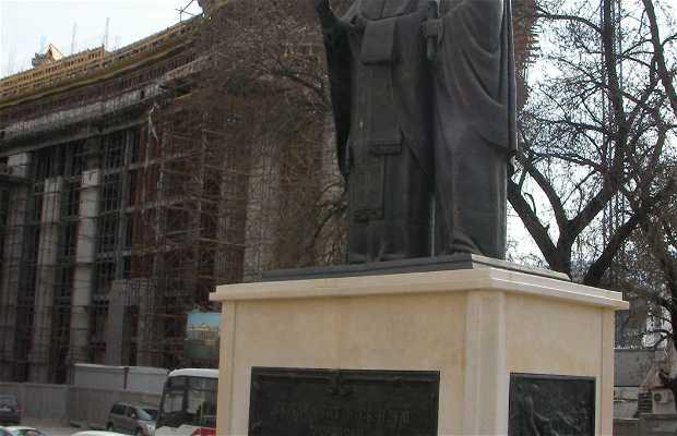Sv Naum y San Clemente Statue