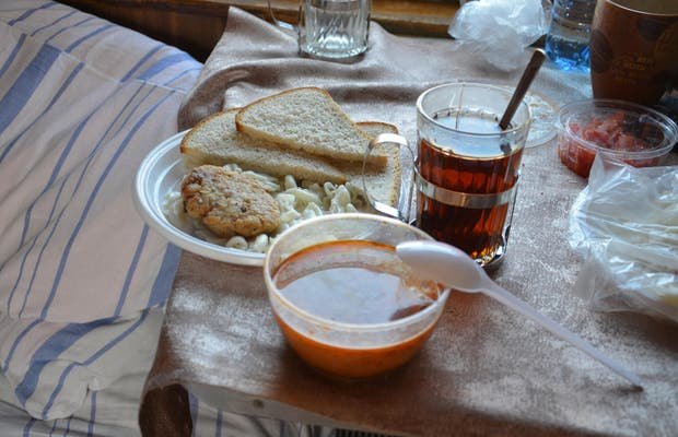 Manger dans le Transsibérien