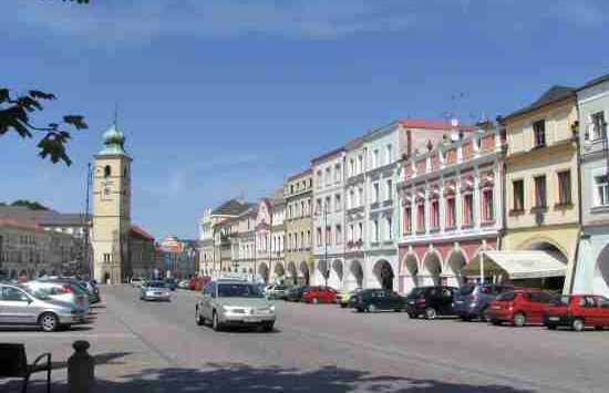 Casas porticadas en la Plaza de Litomysl