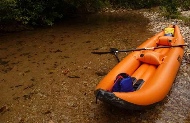 River descent in Chapada