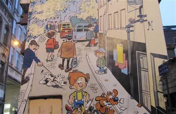 Fresque Boule et Bill - BD de Roba