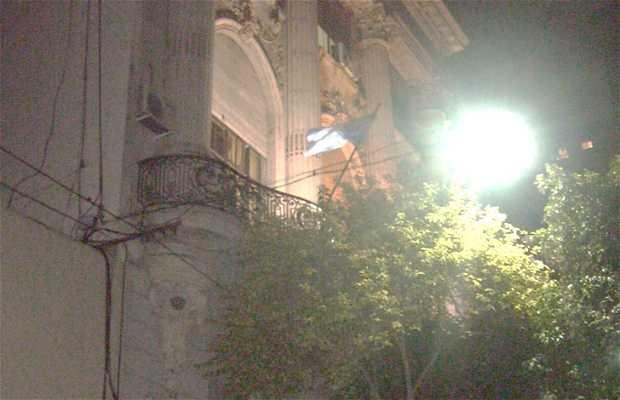 Vista Nocturna del Edificio del Jockey Club de Rosario
