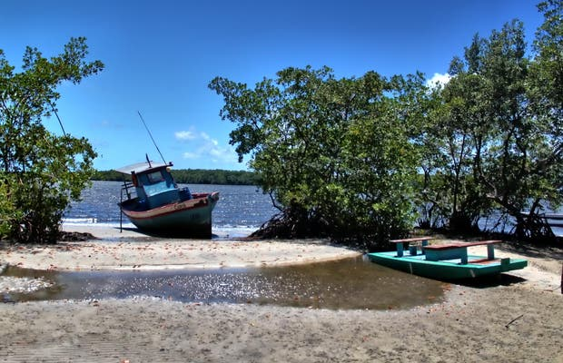 Paseo de canoa en la Barra de Mamanguape