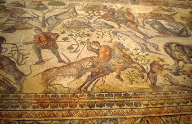 Mosaico di Achille a Pedrosa de la Vega