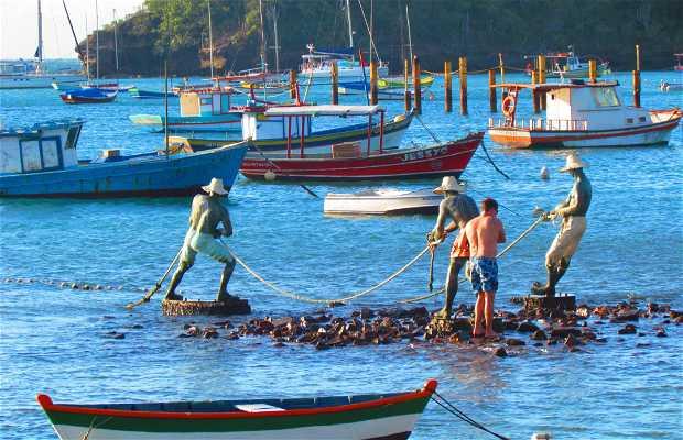 Escultura Três Pescadores