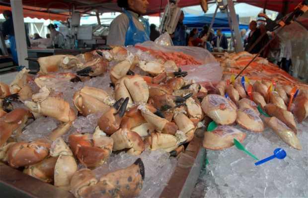 Marché de poissons de Bergen Fisketorget