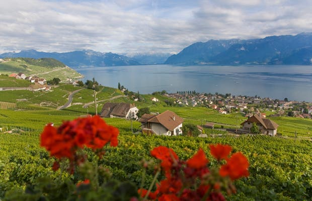 Il lago Leman a Ginevra