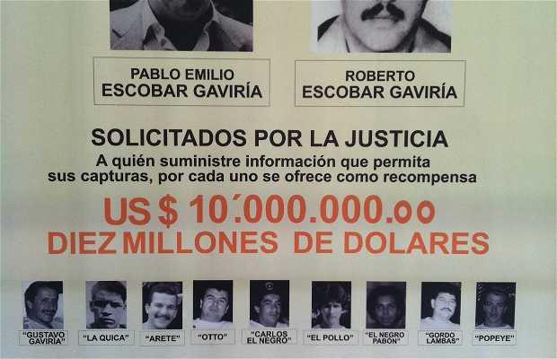 La maison où a été abattu Pablo Escobar