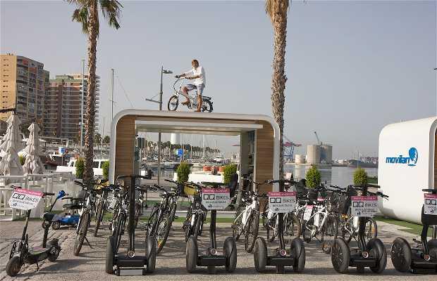Tour guiado en bici eléctrica por el centro histórico de Málaga