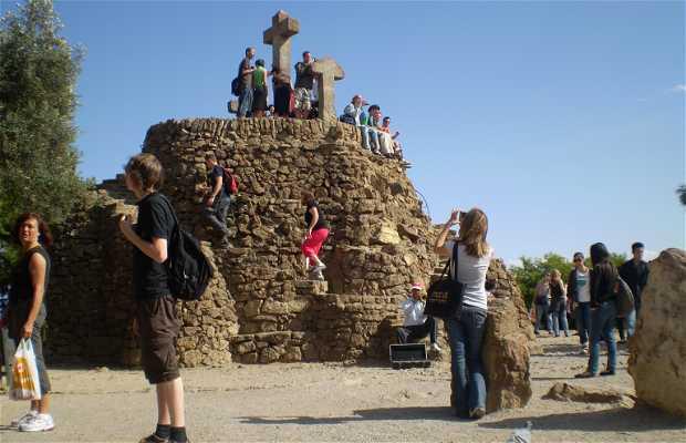 Les trois croix du Parc Guell