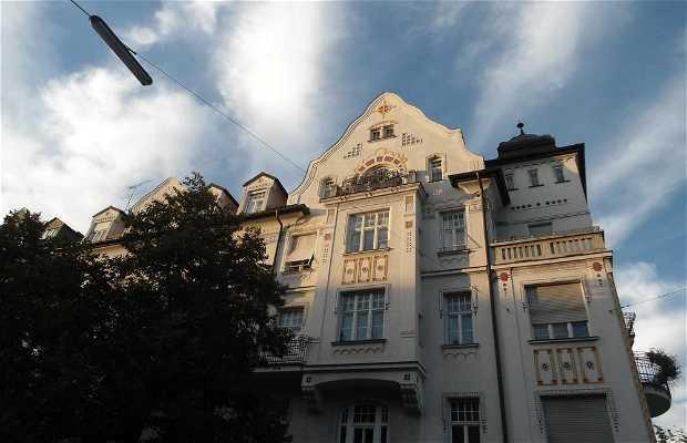 Les Maisons art deco de Schwabing