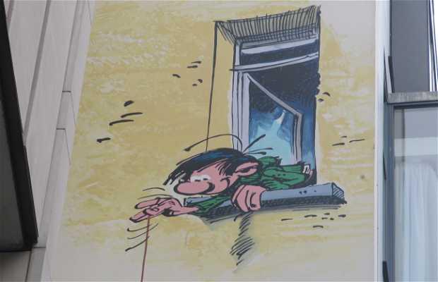 Mural de Gaston Lagaffe - Franquin
