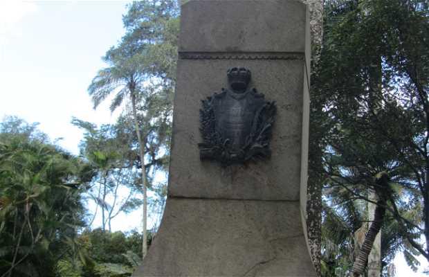 Busto de Don João VI en el Jardín Botánico.