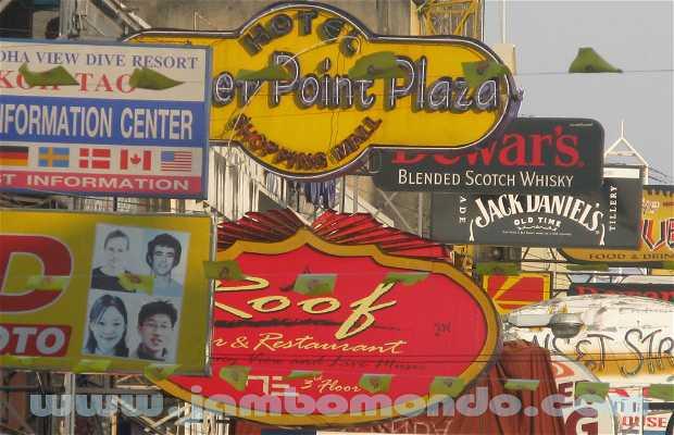 Puestos de comida en la calle en Khaosan Road