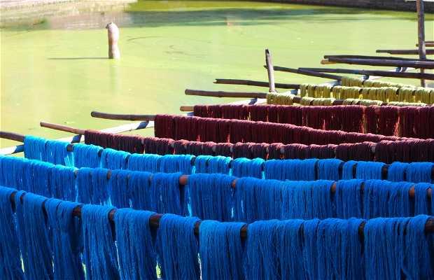 Secaderos de lana de Bhaktapur