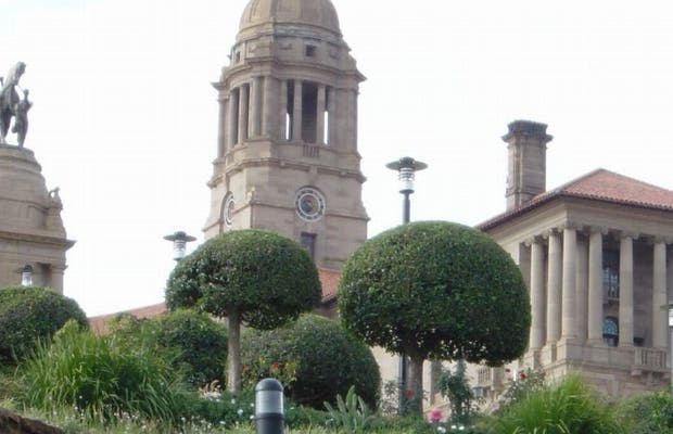 Giardini esteriori Union Buildings a Pretoria