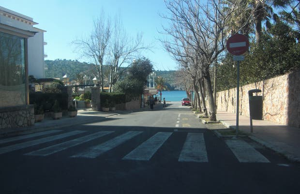 Road to the port of Soller